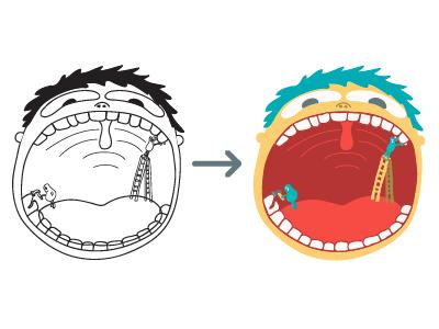 A Whole Lot of Ice Cream Ahead illustration wisdom teeth dentist