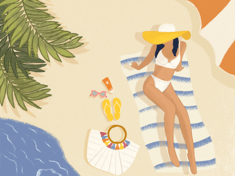 HOT DAYS NEAR THE SEA ideal design summer mood ideal illustration summer inspiration illustration holiday inspiration design