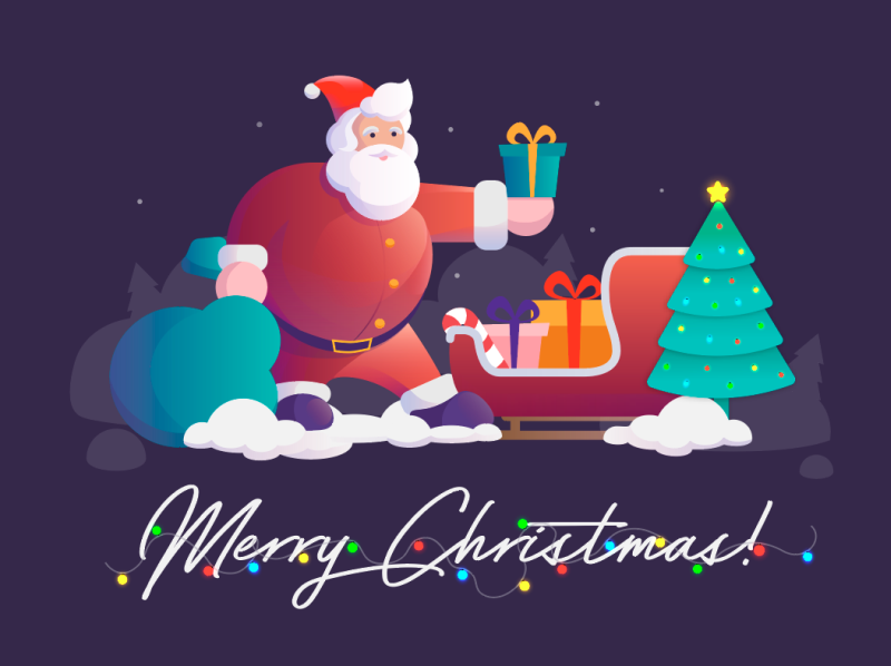 Merry Christmas Happy New Year 2020 By Ideal Design On Dribbble