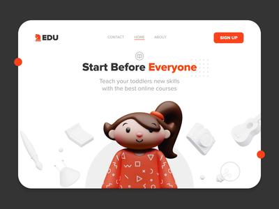 3D Online Classes Landing Page