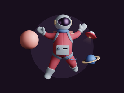 3D Outer space character animation spaceman galaxy space astronaut clay motion animation cgi character cartoon 3d art illustration blender3d 3d