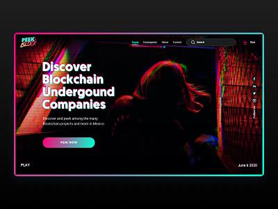 PEEKABLOCK_Homepage/Blockchain_project_blog_mexico branding colorful webdesign ux ui digital design uidesign uxdesign blog blockchain