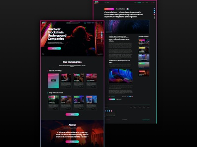 PEEKABLOCK Webesign branding digital design blockchain ui design ux design webdesign