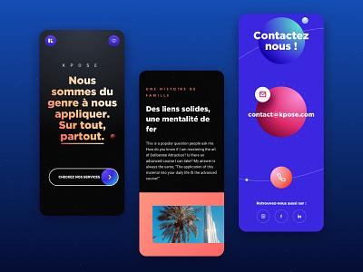 KPOSE - Mobile Version user interface uidesign uxdesign