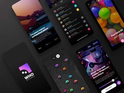 WHO - What Happen Out - Outdoor activities event app party mobile design user interface uidesign uxdesign