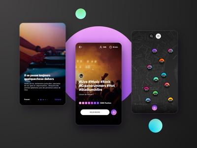 WHO - What Happen Out - Mobile App app design mobile design event app user interfaces uidesign uxdesign