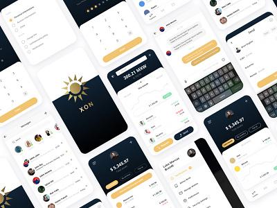 XON - Fintech - Crypto Wallet cryptocurrency finance app fintech user interface ui mobile design app design uidesign uxdesign