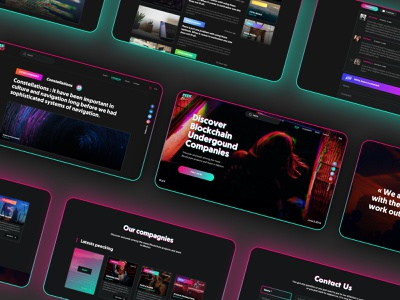 Peekablock - Blockchain in Mexico glitch effect cyberpunk blockchain webdesign branding design art direction uidesign uxdesign