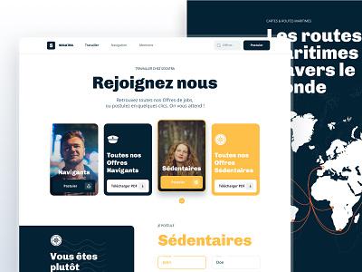 Socatra, The Last French Shipowner - Webdesign sea recruitment sailors webdesign uidesign uxdesign