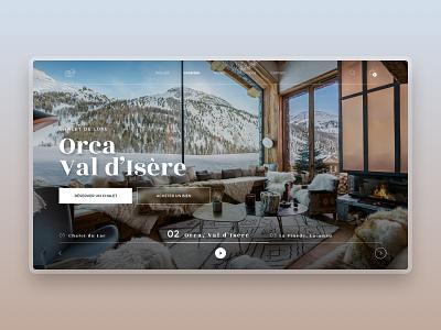 Orca, Val d'Isère - Luxury Chalet renting luxury chalet luxury branding uxdesign uidesign webdesign ui ux