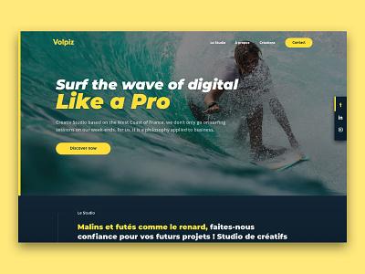 Vopliz Studio - Landing Page branding ux ui webdesign digital design user interface agency webagency webdesig uxdesign uidesign landingpage