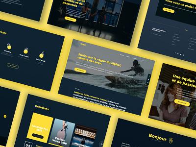 Vopliz Studio - Website overview frenchie agency studio ux ui digital design branding uxdesign webdesign uidesign