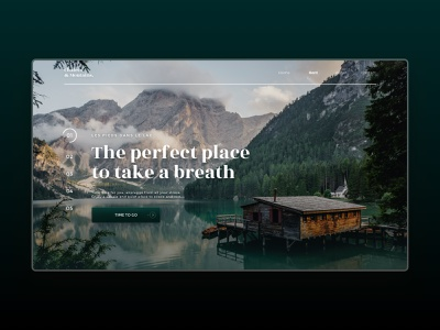 Chalets & Moutains - Webdesign Concept vacation renting chalet webdesign uxdesign uidesign