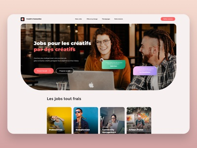 Creativ's Connection - Webdesign happyness creative job application job web design landing page ux design ux ui webdesign uxdesign uidesign