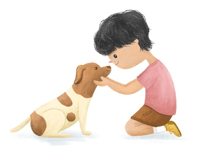 Unconditional love animal art packaging stationery children book illustration kid art characterdesign dog illustration dog art photoshop illustration