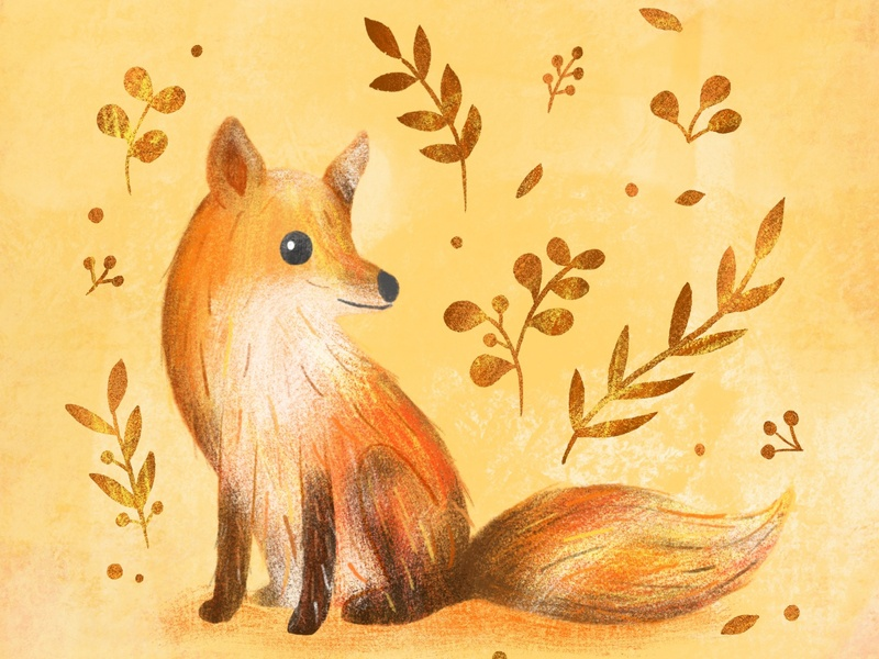 Fox fox licensing procreateartist ipadartist animal procreate illustration