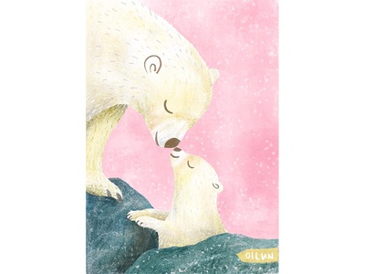 Happy Mother's Day procreate animalart happymothersday bear illustration mothersday