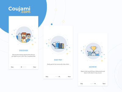 On Boarding Coujami app mobile app training center courses ui ux