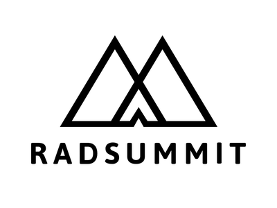 RAD Summit - Research And Design Conference Logo ux design research mountains logo conference