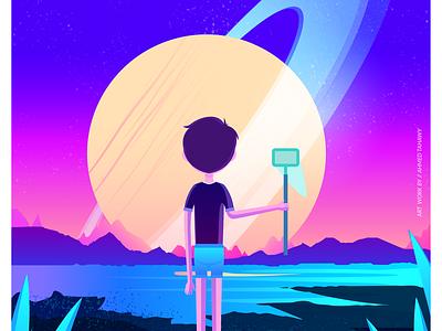 Dream Catcher vector illustration flat design