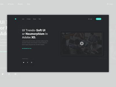 Soft UI Trend - Dark Theme neumorphism concept dark theme extruded designtrends softui caleredwards design bumpy adobexd