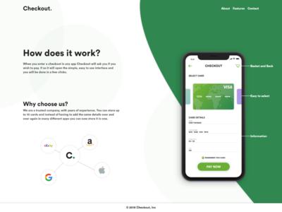 Checkout App Landing Page