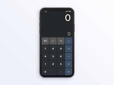 Simple Calculator App 004 dailyui
