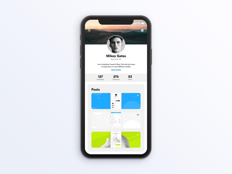 User Profile portfolio dailyui adobexd 006