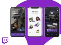 Twitch iOS UI Design