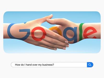 How Do I Hand Over My Business? business realism google doodle google conceptual illustration conceptual editorial illustration editorial design procreate digital illustrator illustration