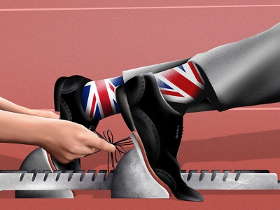 Race to Replace Mark Carney Is Another Brexit Battleground england newspaper news editorial illustration editorial design procreate digital illustrator illustration
