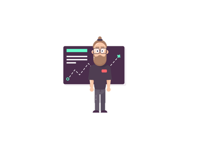 Trends Illustration guy with glasses trends freebies freebie