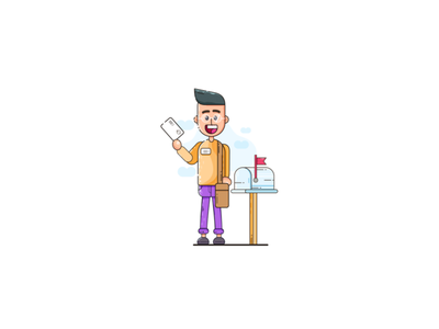 Character Illustration vector illustrations postman character design character