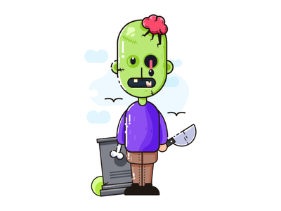 Zombie Character halloween zombie character illustrations