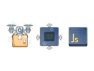 Icons javascript icon js chip delivery icon package drone