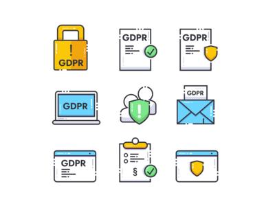 GDPR Icons (Free)