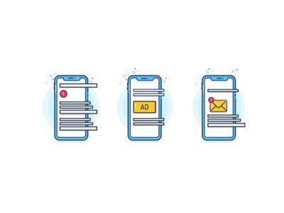 Mobile Notification Illustrations