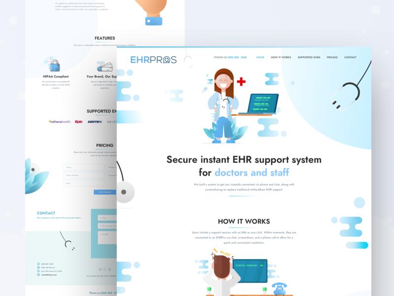 Landing Page EHR Pros
