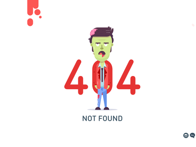 404 zOMBIE landing page illustrator vector zombie 404 page 404 error page 404page 404 error 404