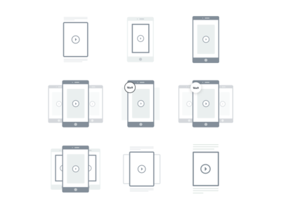 Vertical Video Icons illustration icons