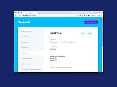 Foamroller web design ux ui