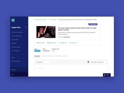 Native Ad Profile ui product design