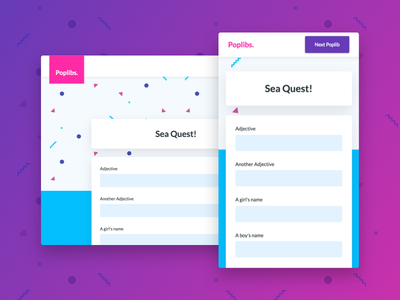 New Poplibs Visual Design responsive web app visual design