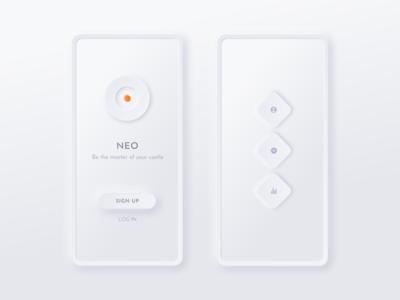 Neumorphic UI kit NEU