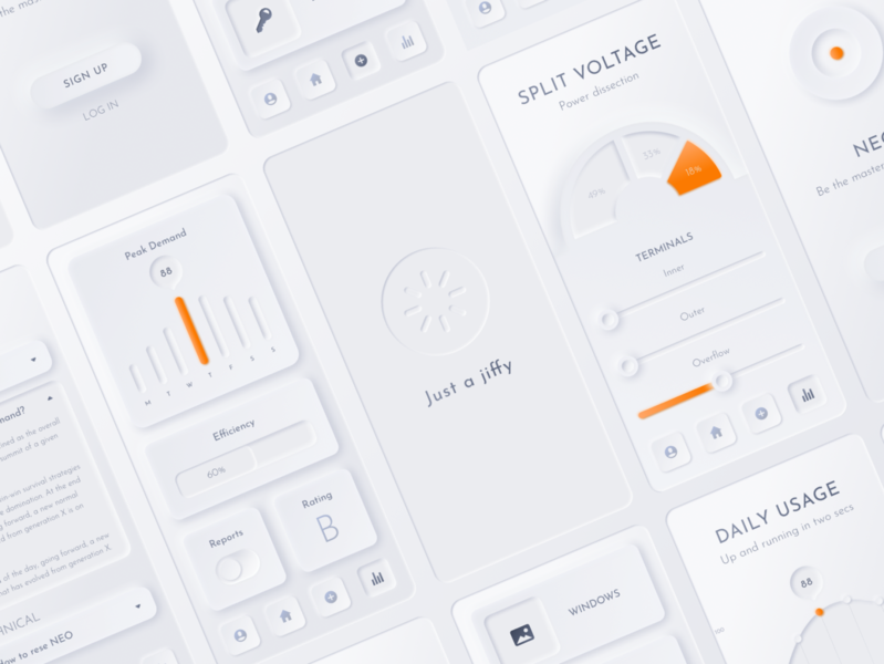 Neumorphic Smart Home App ui kit neumorphism neumorphic mobile library