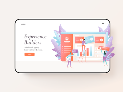 Experience Builders app developers web design agency illustration
