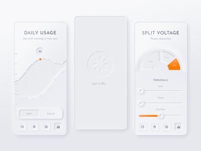 Neumorphic Design product design uidesign app smart home smarthome neumorphism neumorphic