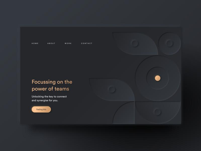 Dark Neumorphic Website Design