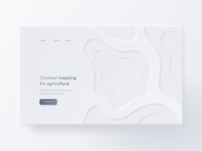 Contour Mapping Neumorphic Website map light contour web design webdesign skeumorphic minimalism neumorphism neumorphic