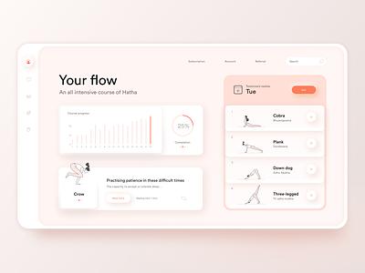 Your Flow: Yoga App yoga icons yoga mat yoga website yoga app web design